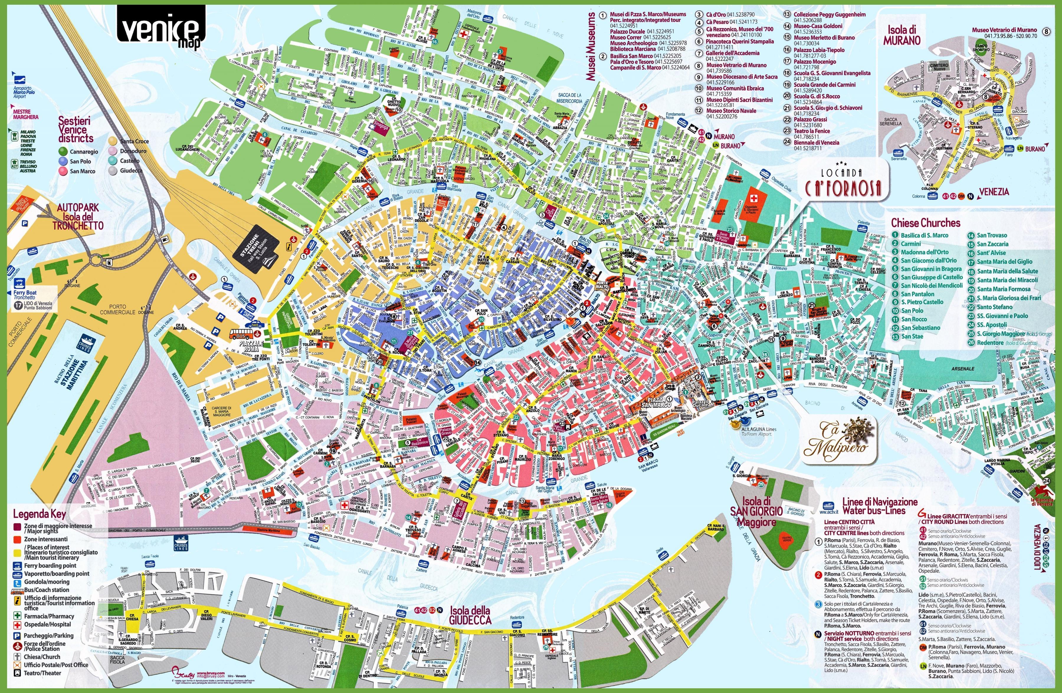 Cartina Turistica Di Venezia.Turistica Di Venezia Mappa Di Venezia Mappa Turistica Italia