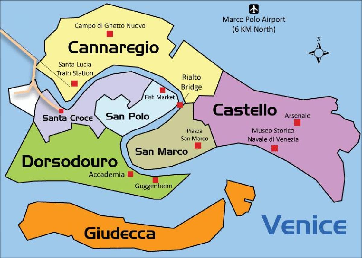 Cartina Della Laguna Di Venezia